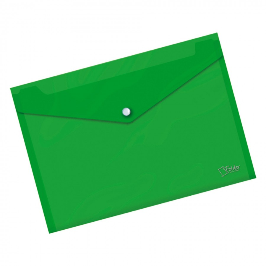 Sobre Verde Broche A4 Folder