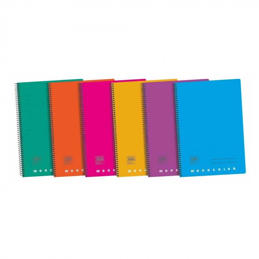 Cuaderno Azul Monocolor  Folio 80 Hojas Tapa Polipropileno Cuadricula De 4 Con Margen