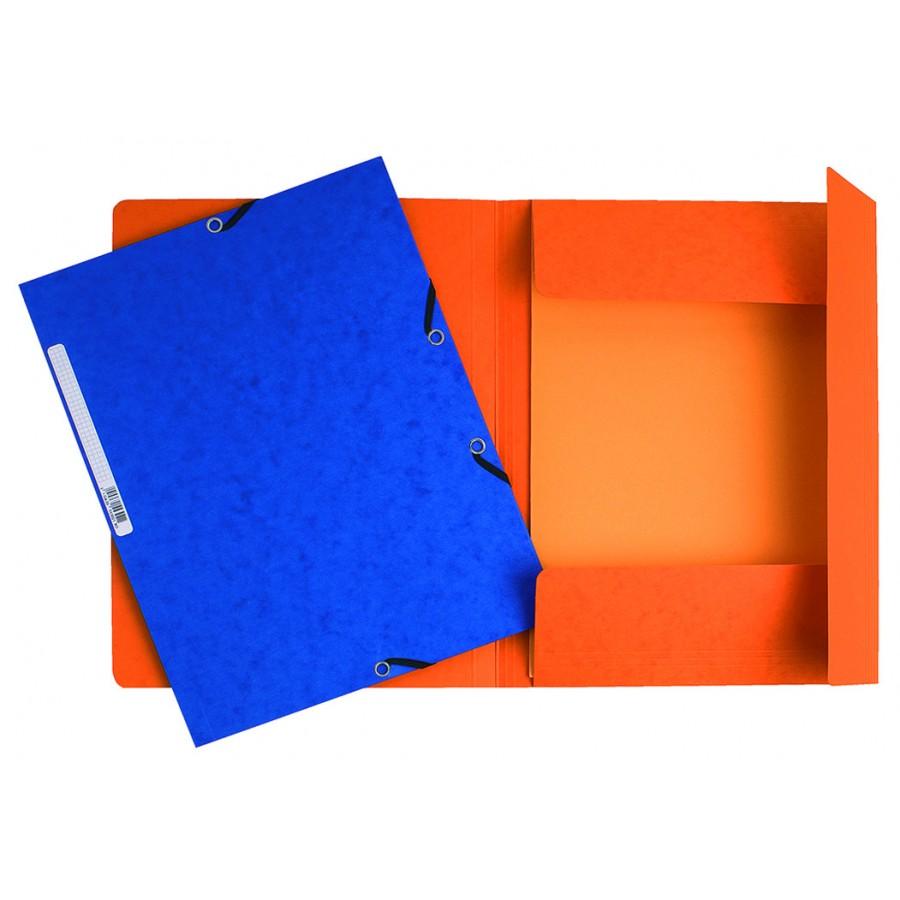 Carpeta Azul Gomas 3 Solapas Cartulina Lustrada  A4 Exacomta